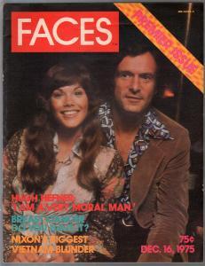 Faces #1 12/16/1975-1st issue-Hugh Hefner-Barbie Benson-Richard Nixon-FN