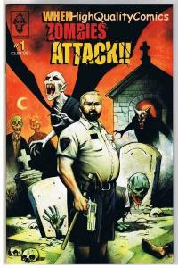WHEN ZOMBIES ATTACK #1, NM+, Walking Dead, Mahfood, 2005, more Horror in store