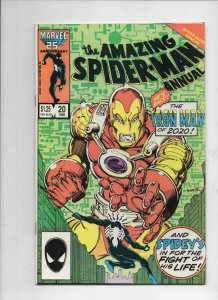 Amazing SPIDER-MAN #20 Annual, FN, Iron Man, 1963 1986 more in store
