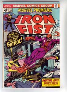 Marvel Premier #20 (Oct-74) NM- High-Grade Iron Fist