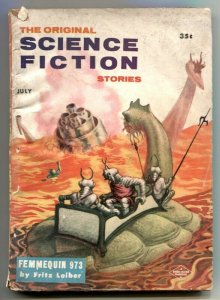 Original Science Fiction Stories July 1957- Kelly Freas VG