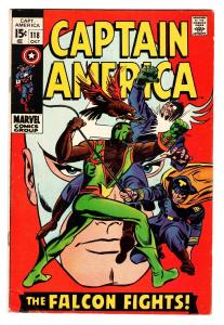 CAPTAIN AMERICA #118-comic book-2ND FALCON-1969-MARVEL