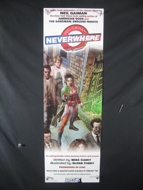 Neverwhere DC Comics Promo Poster 2005 34x11