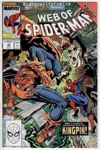 WEB of SPIDER-MAN #48, NM-, HobGoblin, Saviuk, KingPin, more in store