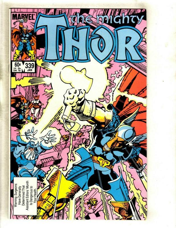 Mighty Thor # 339 NM Marvel Comic Book Beta Ray Bill Avengers Loki Hulk Odin GK4