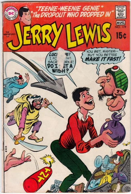 Jerry Lewis, the Adventures of #119 (Aug-70) VG Affordable-Grade Jerry Lewis