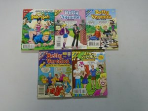 Archie Comics Betty and Veronica Digests lot of 5 different issues