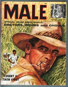 MALE-FEB 1956-JUNGLE-CHEESECAKE-PULP FICTION-WAR-GHOULS-TERROR-CRIME VG