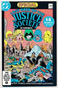 Last Days of the Justice Society Special (1986) #1 VF