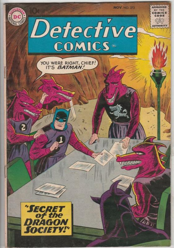 Detective Comics #273 (Nov-59) VF High-Grade Batman