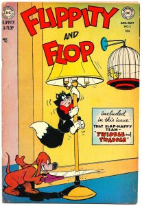 FLIPPITY AND FLOP #3 (May 1952) 5.0 VG/FN  Dog-Cat-Canary Funny Animal HiJinx!