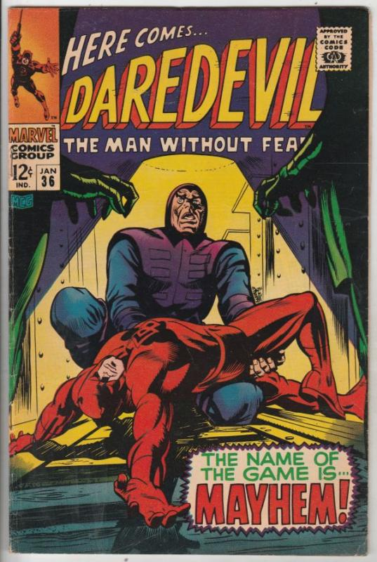Daredevil #36 (Jan-68) FN/VF+ High-Grade Daredevil