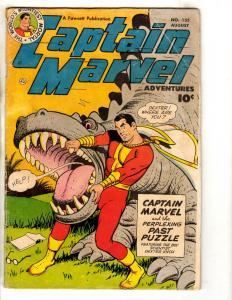 Captain Marvel Adventures # 135 FN- Fawcett Comic Book Golden Age Shazam JL14
