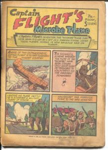 Captain Flight #2 1944-Four Star-Nazis-WWII era-Patriotic-P