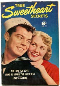 TRUE SWEETHEART SECRETS #11 1953-PHOTO COVER-EVANS ART FN+