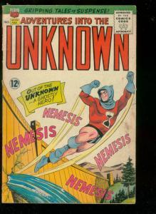ADVENTURES INTO THE UNKNOWN #154 1965-ORIGIN NEMISIS-good G
