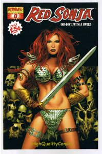 RED SONJA #0 x 2, NM-, She-Devil with a Sword, 2005, Black & White covers, 1 ea
