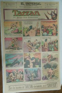 Tarzan Sunday Page #617 Burne Hogarth from 1/3/1943 in Spanish! Full Page Size