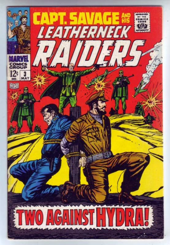 Captain Savage and His Leatherneck Raiders #3 (May-68) FN/VF Mid-High-Grade C...