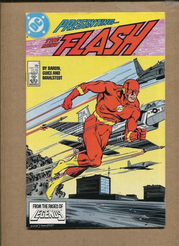 FLASH #1, NM-, Mike Baron, Teen Titans, Guice, 1987, more DC in store