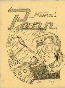 PEON Mimeozine Fanzine - July 1948 #1 SCI FI FANTASY Very Rare Publication VG