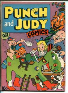 PUNCH AND JUDY VOL 2 #3-1946-HILLMAN-UNIQUE-TERRIFIC ART-vf+