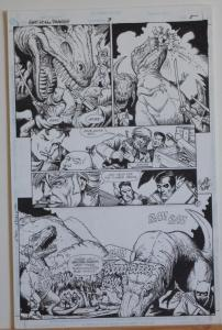 TIMOTHY TRUMAN original art, GUNS of the DRAGON #3,pg #5, T-rex, Dinosaurs, 1998