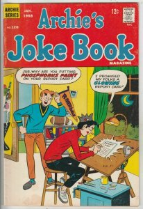 Archie's Joke Book # 120 Strict FN/VF Mid-High-Grade Dayglow Paint Report Card
