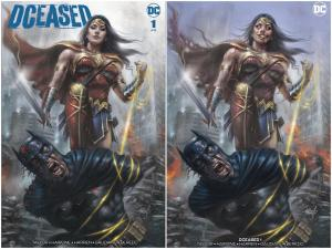 DCeased #1 Lucio Parrillo Blue Sky Variant Set w/ COA