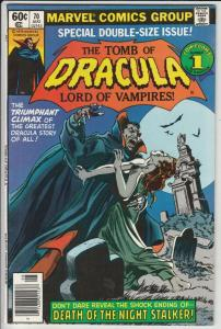 Tomb of Dracula #70 (Aug-79) NM- High-Grade Dracula