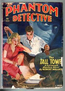 PHANTOM DETECTIVE 1950 WINTER-good girl art-grave robbing!-THRILLING-VG VG