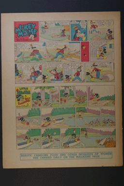 Micky Mouse, Goofy, and Little Hiawatha Sunday April 5, 1942