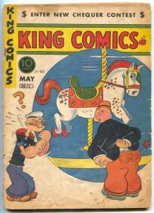 King Comics #73 1942- Lone Ranger- Popeye- Golden Age G-