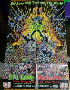 LARGE 24 x 36 Evil Ernie DESTROYER Chaos Comics Promo Poster NO PIN HOLES NEW