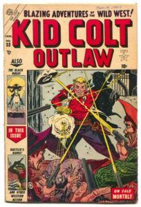 Kid Colt Outlaw #33 1953-Atlas Western- Black Rider FN-