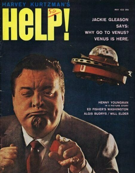 ORIGINAL Vintage 1961 Help! Comic Magazine #10 Jackie Gleason (detached cover)