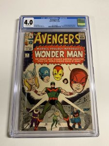 Avengers 9 Cgc 4.0 Ow Pages 1st First Appearance Wonder Man Silver Age Marvel