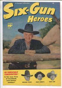 Six-Gun Heroes #1 1950-Fawcett-1st issue-covers ONLY!!-Hopalong Cassidy-FR