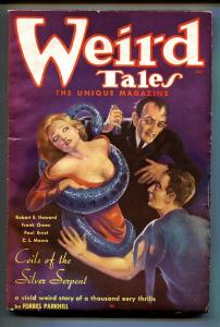 Weird Tales February 1936- Brundage cover- DOCTOR SATAN-Pulp Magazine