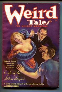 Weird Tales February 1936- Brundage cover- DOCTOR SATAN-Pulp Magazine