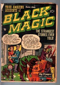 BLACK MAGIC COMICS #5-1951-JOE SIMON & JACK KIRBY PRE-CODE HORROR ART-G G