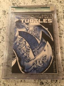 Teenage Mutant Ninja Turtles #2 CGC 9.6 Signed Eastman & Laird Mirage 1st Pr RM1