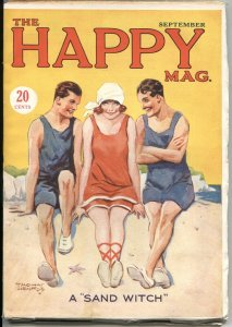 """HAPPY MAG #1--SEPT 1927-SPICY """"SAND WITCH"""" COVER ART-VERY RARE PULP MAGAZINE"""