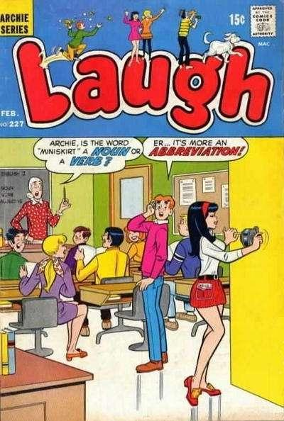 Laugh Comics #227, Fine (Stock photo)