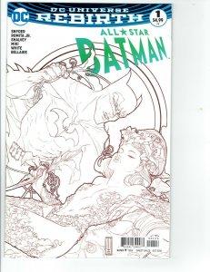 ALL-STAR BATMAN #1 DC Universe Rebirth FRIED PIE SKETCH VARIANT COVER (2016) NM