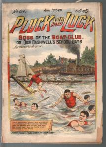 Pluck and Luck #619 4/13/1910-Tousey-Boat Club Boss-pulp fiction-G