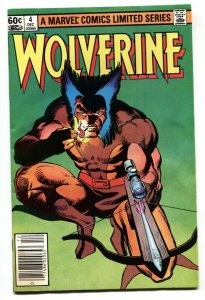 Wolverine Limited Series #4 Newsstand Marvel comic book 1982 VF-