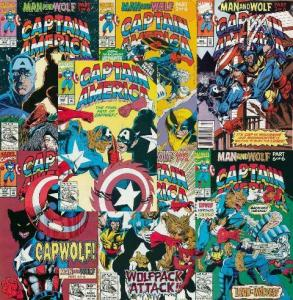 CAPTAIN AMERICA 402-408 Man & Wolf  Wolverine apps! COMICS BOOK