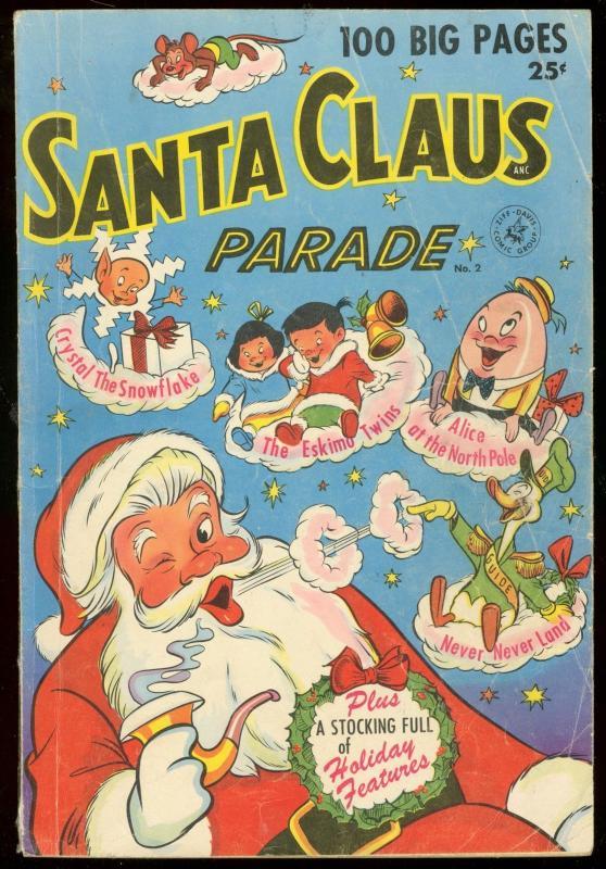 SANTA CLAUS PARADE #2 1952--ZIFF DAVIS--CHRISTMAS COMIC VG