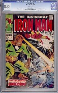 Iron Man #4 (Marvel, 1968) CGC 8.0
